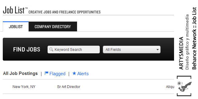 Behance Network :: Job List