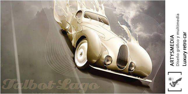 Luxury retro car