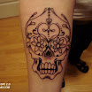 Latest girl skull tattoos