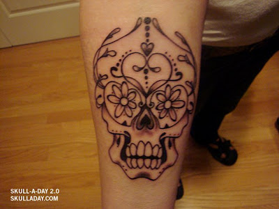la ink skull tattoos