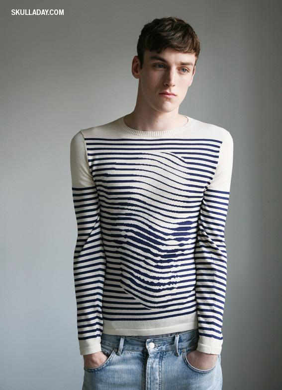 Noah Scalin Breton skull sweater