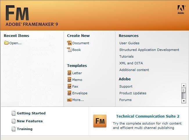 FrameMaker Basics & FrameMaker Tutorials: Creating a new document in ...