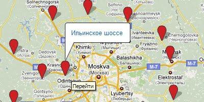 Maps Mania: Russian Google Maps Mashups Round-Up