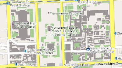 screenshot of Google Maps China