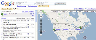 screen shot of Google Maps old style