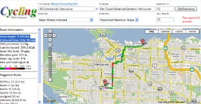 Cycling Vancouver map