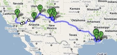 maps mania the easy rider route on google maps. Black Bedroom Furniture Sets. Home Design Ideas