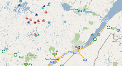 Maps Mania Canadian Wildfire Map