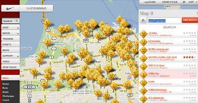 maps mania nike 39 s google maps jogging routes. Black Bedroom Furniture Sets. Home Design Ideas