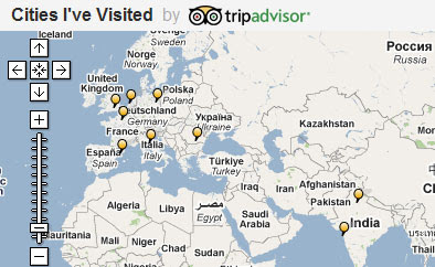 trip advisor cities ive visited