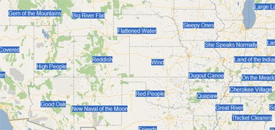 Maps Mania: US State Etymology on Google Maps