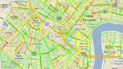 Maps Mania: New Orleans Cycling on Google Maps on