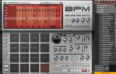 Interfaz gráfica de usuario del programa BPM de Motu, se asemeja a un BPM hardware