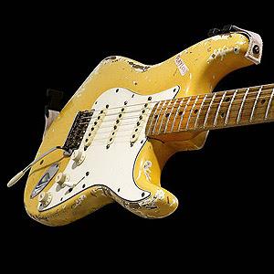 Fotografía artística de esta guitarra