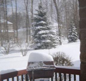 Winter scene in Cleveland's snowbelt