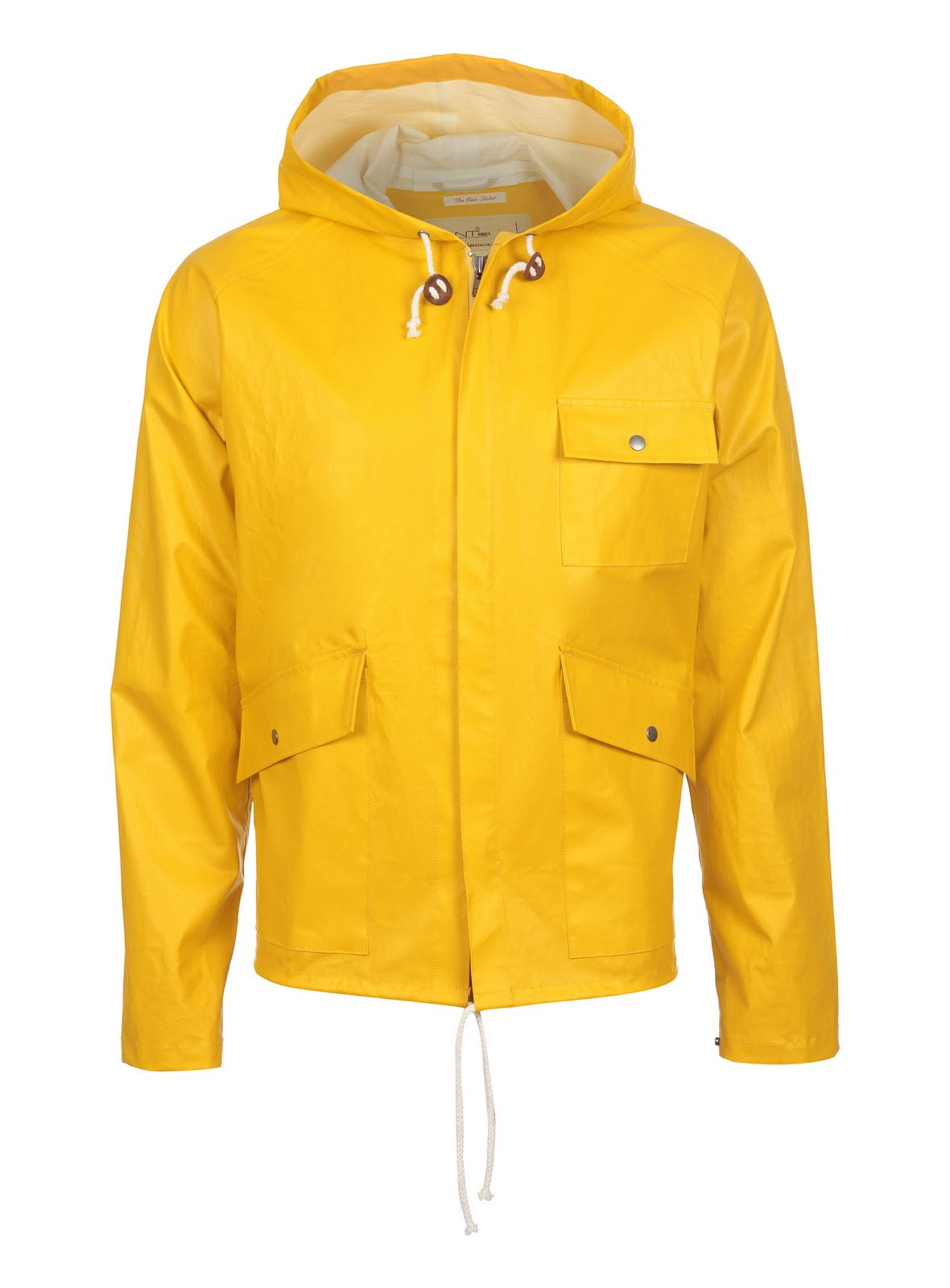 All Tied Up Yellow Raincoat