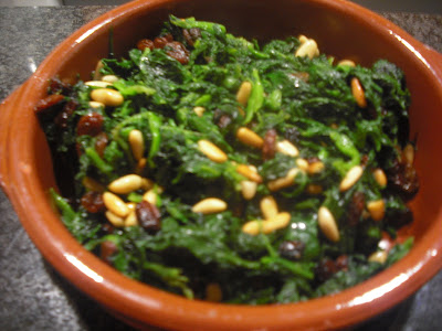 En la cocina de asun espinacas a la catalana for Espinacas como cocinarlas