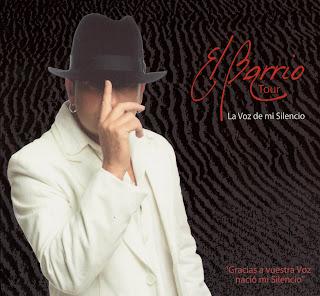 carátula de La voz de mi silencio: Tour 08 (CD+ DVD) nuevo disco de José Luis Figuereo Franco, El Barrio, en concierto, portada, arte de tapa, cd covers, videoclips, letras de canciones, fotos, biografia, discografia, comentarios, enlaces, melodías para movil