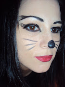 A trial run of my cat make up. It's not the cat look i am going with, .