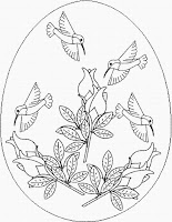 flower coloring page for easter