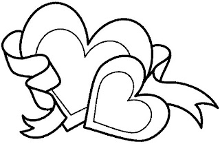 Free hearts coloring pages