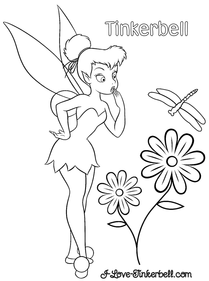 coloring pages disney characters. Tinkerbell Coloring Pages