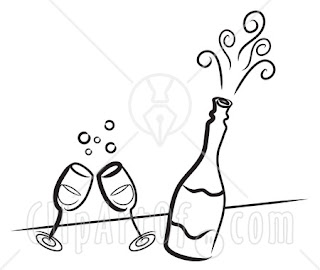 Champagne Toast Coloring Pages