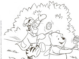 Winnie The Pooh Easter Coloring Page