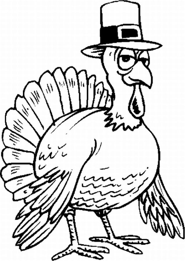 Thanksgiving Coloring Pages July