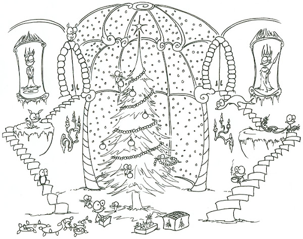 Printable Christmas Coloring Pages Adult