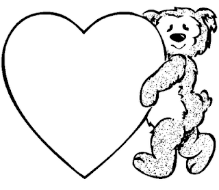 Valentine Teddy Coloring Pages