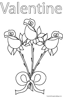 Free Valentine Rose Coloring Pages