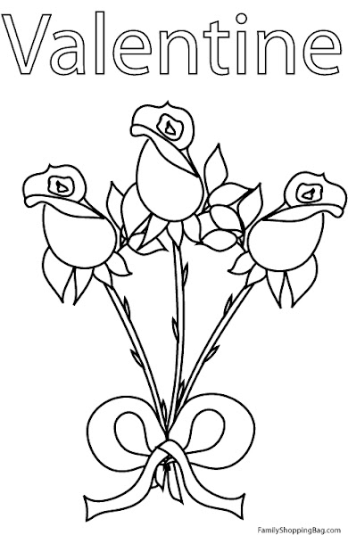 Beautiful Rose Coloring Pages