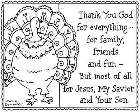 Religious Thanksgiving Coloring