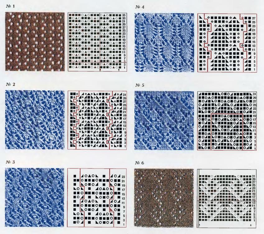 Каталог схем вязание на спицах