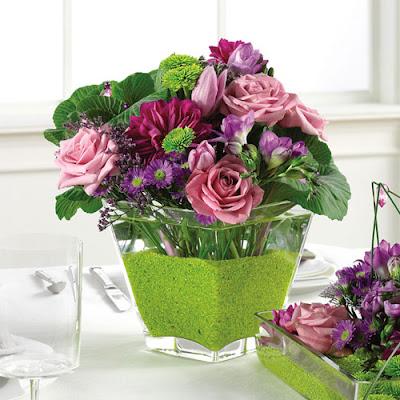 burgundy flower wedding centerpieces