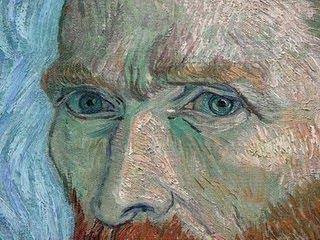 Detalhe do olhar de Vang Gogh num dos seus inúmeros auto-retratos