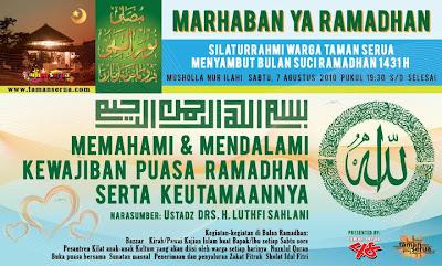 Halal Bihalal Warga Taman Serua Menyambut Ramadhan 1413 H
