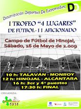 """I Trofeo """"4 Lugares"""" de Fútbol."""