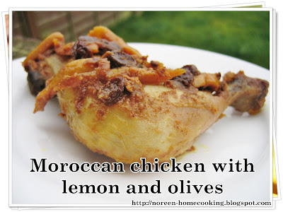 my home cooking blog: Moroccan chicken with lemon and olives