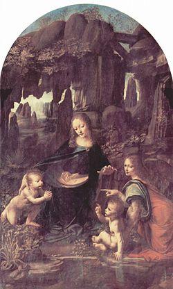 La Virgen de las Rocas.