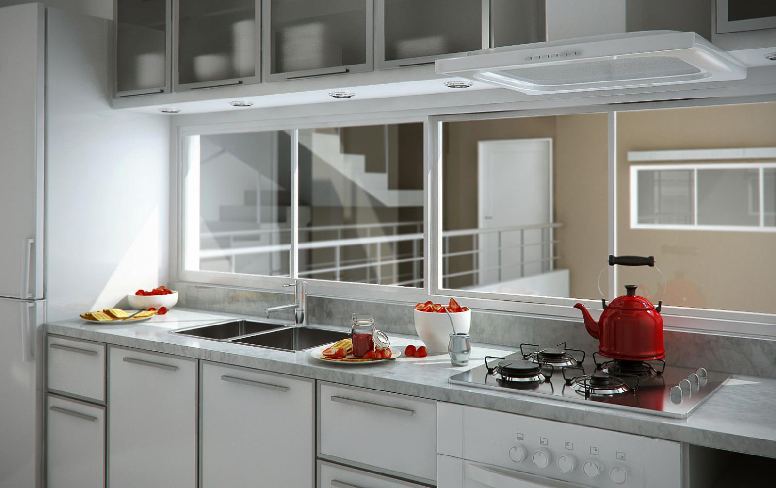 Claudio gabriel escobar 3d 2d arquitectura y render for Cocina comedor modernos fotos