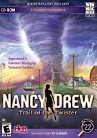Nancy Drew, Trail of the Twister, pc, game, box, art