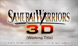 Samurai Warriors, Chronicle, game, Nintendo, 3DS, screen