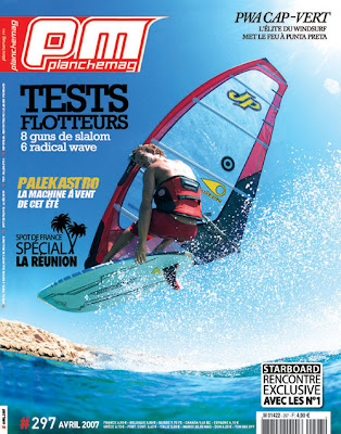 photo de windsurf, Antxon Otaegui, couverture du magazine Planchemag avril 2007