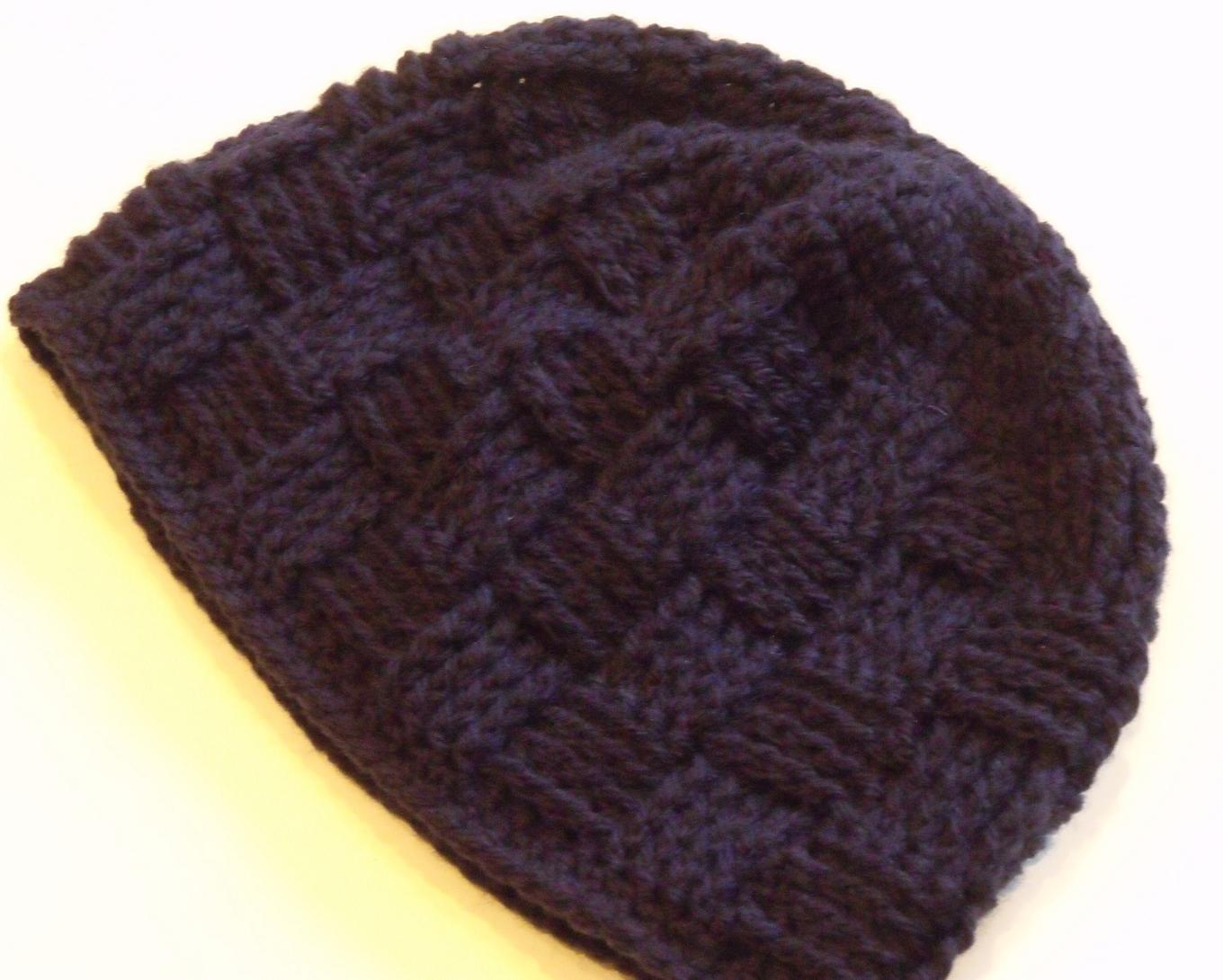 Basket Weave Hat Pattern Free : Basketweave crochet pattern free patterns