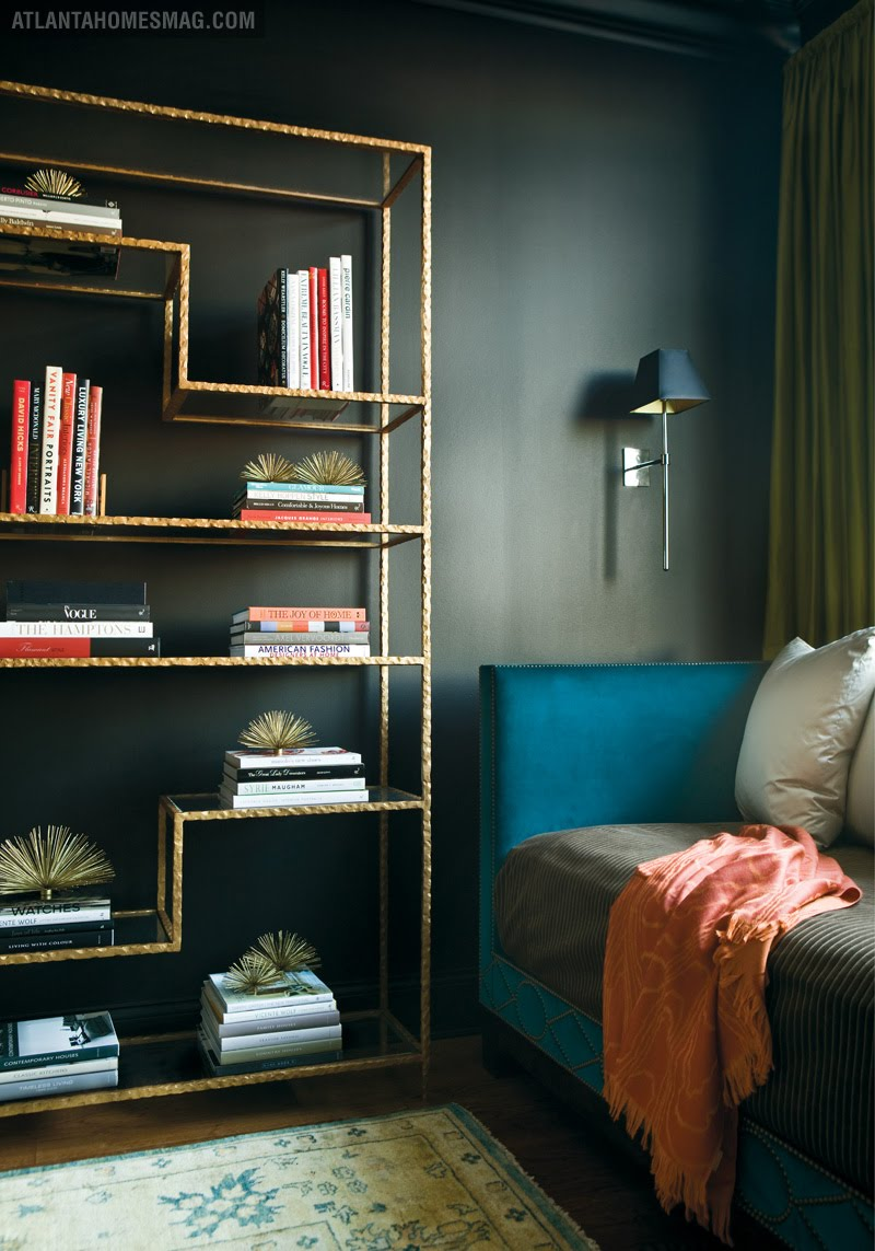 Delight by design black blue office luxury - Decoration bleu canard ...