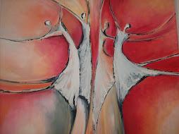 Bailarinas en rojo