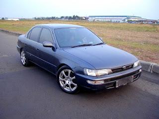 Toyota Great Corolla agak sedikit lebih awat dibandingkan dengan mobil