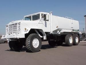 Model M923A1 water truck, water tender